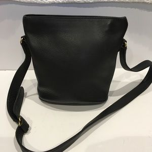 Coach vintage cross body pebble leather bucket bag